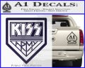 Kiss Army Decal Sticker PurpleEmblem Logo 120x97