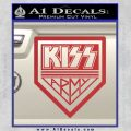 Kiss Army Decal Sticker Red 120x120