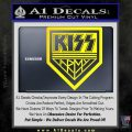 Kiss Army Decal Sticker Yellow Laptop 120x120