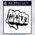 MMA Fist Hate Decal Sticker Black Vinyl 120x120