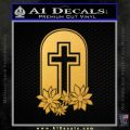 Memorial Cross Crucifix Decal Sticker Gold Vinyl 120x120