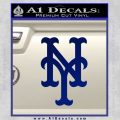 Mets Decal Sticker Retro1 Blue Vinyl 120x120