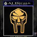 Mf Doom Mask D2 Decal Sticker Gold Vinyl 120x120