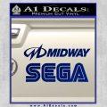 Midway Sega Decal Sticker 2 Decals Blue Vinyl 120x120
