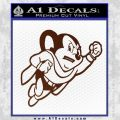 Mighty Mouse Decal Sticker Classic BROWN Vinyl 120x120