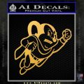 Mighty Mouse Decal Sticker Classic Gold Vinyl 120x120