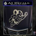 Mighty Mouse Decal Sticker Classic Metallic Silver Emblem 120x120