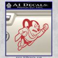 Mighty Mouse Decal Sticker Classic Red 120x120