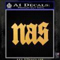 Nas Rapper Script D1 Decal Sticker Gold Vinyl 120x120