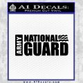 National Guard Decal Sticker Wide Black Vinyl 120x120