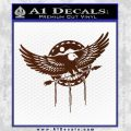 Native American Eagle Decal Sticker BROWN Vinyl 120x120