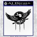 Native American Eagle Decal Sticker Black Vinyl 120x120