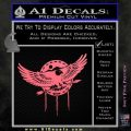 Native American Eagle Decal Sticker Pink Emblem 120x120
