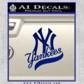 New York Yankees Combined D1 Decal Sticker Blue Vinyl 120x120