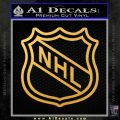 Nhl Shield D2 Decal Sticker Gold Vinyl 120x120