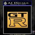Nissan Gtr D2 Decal Sticker Gold Vinyl 120x120