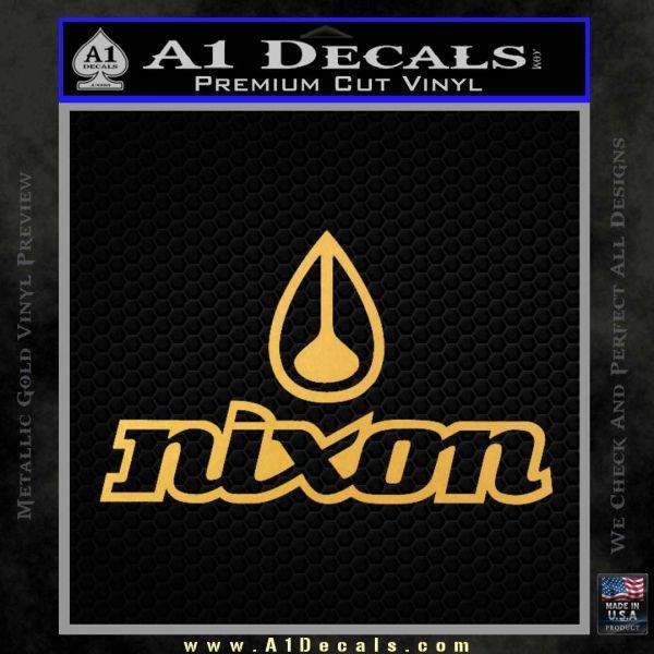 Nixon Snowboard Decal Sticker Full Gold Vinyl