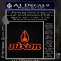 Nixon Snowboard Decal Sticker Full Orange Emblem 120x120