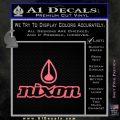 Nixon Snowboard Decal Sticker Full Pink Emblem 120x120
