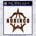 Norinco Firearms Decal Sticker D1 BROWN Vinyl 120x120