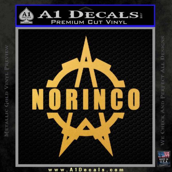 Norinco Firearms Decal Sticker D1 Gold Vinyl