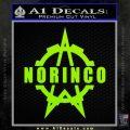 Norinco Firearms Decal Sticker D1 Lime Green Vinyl 120x120