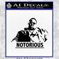 Notorious Big Full Decal Sticker Black Vinyl 120x120