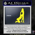 Nude Girls Silhouette Decal Sticker Yellow Laptop 120x120