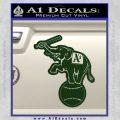 Oakland As Elephant Retro Decal Sticker Dark Green Vinyl 120x120