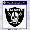 Oakland Raider Decal Sticker Shield Black Vinyl 120x120