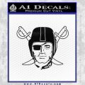 Oakland Raiders Decal Sticker D1 Black Vinyl 120x120