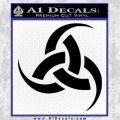 Odin Triple Horn Decal Sticker Black Vinyl 120x120