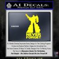 Optimus Prime Never Forget Transformers D1 Decal Sticker Yellow Laptop 120x120