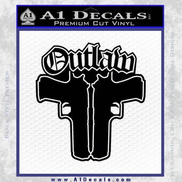Thug Life Guns Outlaw Guns Decal Sticker Thug