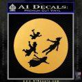 Peter Pan Kids Flying D2 Decal Sticker Gold Vinyl 120x120