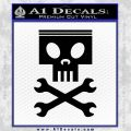 Planes Dusty Skull Wrenches Decal Sticker Black Vinyl 120x120