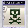 Planes Dusty Skull Wrenches Decal Sticker Dark Green Vinyl 120x120