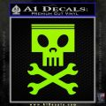 Planes Dusty Skull Wrenches Decal Sticker Lime Green Vinyl 120x120