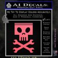 Planes Dusty Skull Wrenches Decal Sticker Pink Emblem 120x120