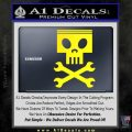 Planes Dusty Skull Wrenches Decal Sticker Yellow Laptop 120x120
