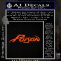 Poison Band Decal Sticker Orange Emblem 120x120