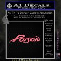 Poison Band Decal Sticker Pink Emblem 120x120