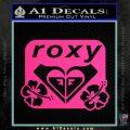 Roxy Dual Hibiscus Decal Sticker Pink Hot Vinyl 120x120