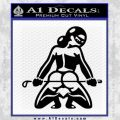 Sexy Lady Nude Butt Decal Sticker Black Vinyl 120x120