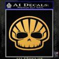 Shell Oil Skeleton D2 Decal Sticker Gold Vinyl 120x120
