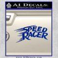 Speed Racer Title Decal Sticker Blue Vinyl Black 120x120