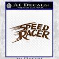 Speed Racer Title Decal Sticker Brown Vinyl Black 120x120