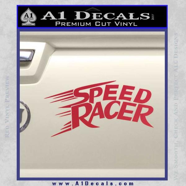 Speed Racer Title Decal Sticker Red Vinyl Black