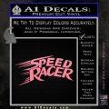 Speed Racer Title Decal Sticker Soft Pink Emblem Black 120x120