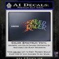 Speed Racer Title Decal Sticker Spectrum Vinyl Black 120x120